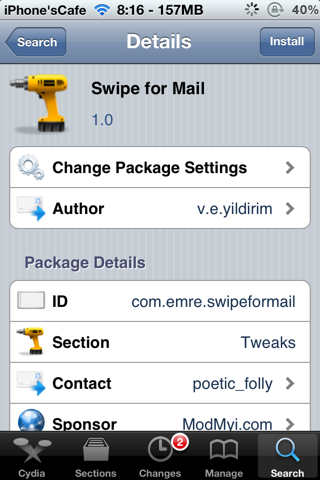 Swipe for Mail